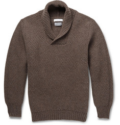 Richard James Knitted Wool Shawl-Collar Sweater