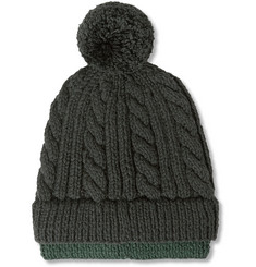 Richard James Hand-Knitted Merino Wool Beanie Hat