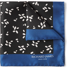 Richard James Printed Silk-Faille Pocket Square
