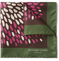 Richard James - Printed Silk Pocket Square