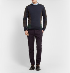 Kolor Knitted-Wool Crew Neck Sweater