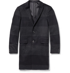 Kolor Wool--Cashmere Striped Overcoat