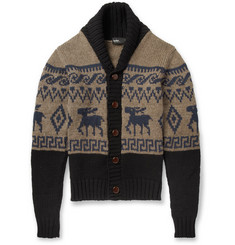 Kolor Fair Isle Wool Cardigan