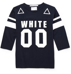 White Mountaineering Printed Cotton-Jersey Crew Neck T-Shirt