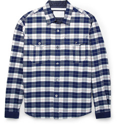 White Mountaineering Regular-Fit Plaid Woven-Cotton Shirt