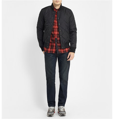 White Mountaineering Panelled Check Cotton Shirt