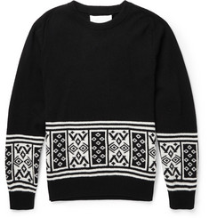 White Mountaineering Intarsia Wool Sweater