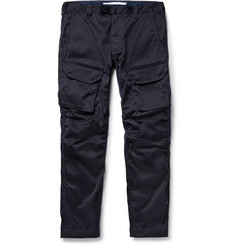 White Mountaineering Slim-Fit Coated Cotton-Blend Cargo Trousers