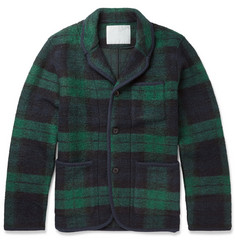 White Mountaineering Lightweight Check Wool-Blend Jacket