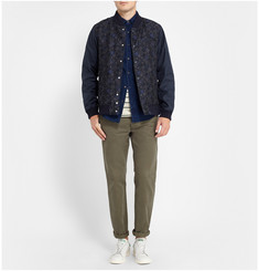 White Mountaineering Pattern-Panel Bomber Jacket