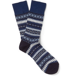 White Mountaineering Fair Isle Knitted Socks