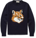 Maison Kitsuné - Fox Knitted-Wool Sweater