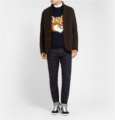 Maison Kitsuné Fox Knitted-Wool Sweater