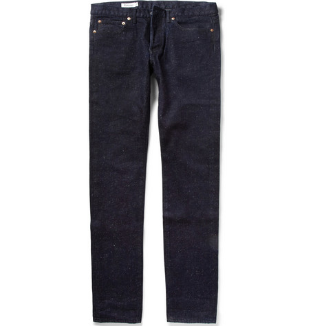 Maison Kitsuné Slim-Fit Slub-Denim Jeans