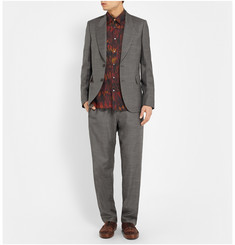 Paul Smith Slim-Fit Modal, Cotton and Cashmere-Blend Shirt