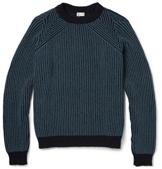 Paul Smith Ribbed Cashmere and Wool-Blend Sweater