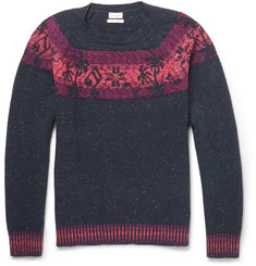 Paul Smith Palm Tree-Intarsia Wool-Blend Sweater