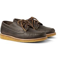 Yuketen Crepe-Sole Full-Grain Leather Derby Shoes