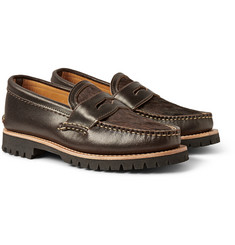 Yuketen Cow Hair and Waxed-Leather Penny Loafers