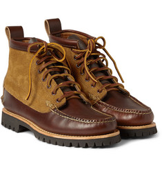 Yuketen Leather and Suede Lace-Up Boots