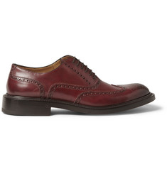 O'Keeffe Felix Hand-Polished Thick-Sole Leather Wingtip Brogues