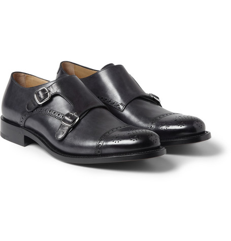 O'Keeffe Manach Hand-Polished Leather Monk-Strap Brogues