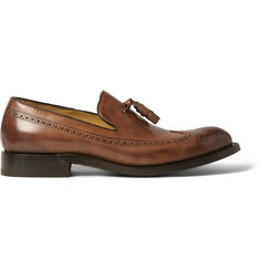 O'Keeffe Algy Hand-Polished Leather Tassel Loafers