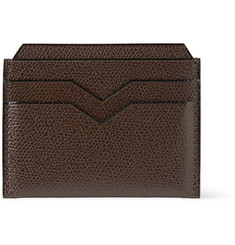 Valextra Cross-Grain Leather Cardholder