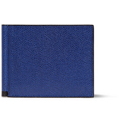 Valextra Pebble-Grain Leather Card Holder