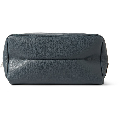 Valextra Pebbled-Leather Wash Bag