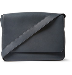 Valextra Pebbled-Leather Messenger Bag
