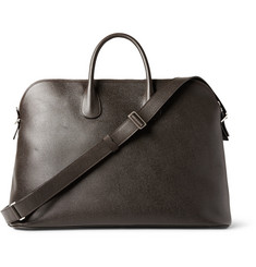 Valextra Textured-Leather 24 Hour Bag
