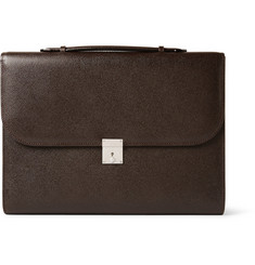 Valextra Pebbled-Leather Portfolio-Style Briefcase