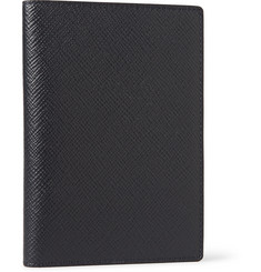 Smythson Matte Cross-Grain Leather Passport Cover
