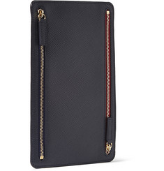 Smythson Panama Leather Currency Case