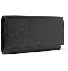 Smythson Cross-Grain Leather Travel Wallet
