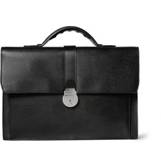 Smythson Cross-Grain Leather Briefcase
