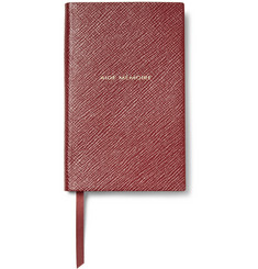 Smythson Aide-Mémoire Cross-Grain Leather Panama Notebook