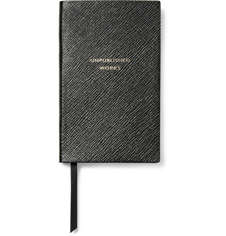 Smythson Unpublished Works Cross-Grain Leather Panama Notebook