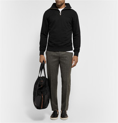 Our Legacy Ribbed Cotton-Blend Half-Zip Sweatshirt