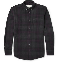 Our Legacy Overdyed Check Cotton Shirt