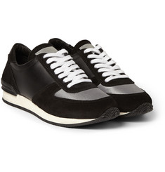 Our Legacy Runner Suede and Leather Sneakers