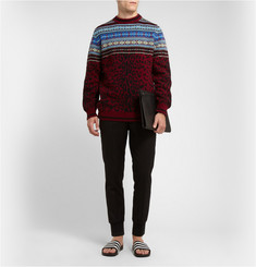 Sibling Leopard Fair Isle Wool Sweater