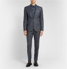 PS by Paul Smith Grey Slim-Fit Wool Suit Trousers