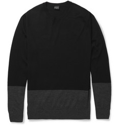 PS by Paul Smith Panelled Merino Wool Sweater
