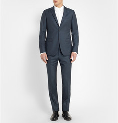 Calvin Klein Collection Navy Slim-Fit Wool-Flannel Suit