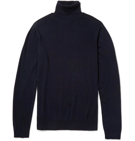 Calvin Klein Collection Slim-Fit Cashmere Rollneck Sweater