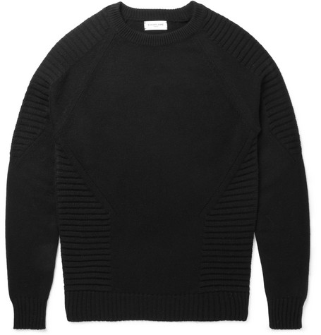 Exemplaire Rib-Trimmed Cashmere Sweater