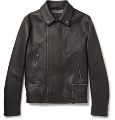 Neil Barrett Slim-Fit Matte Grained-Leather Jacket