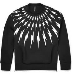 Neil Barrett Printed Neoprene Crew Neck Sweatshirt